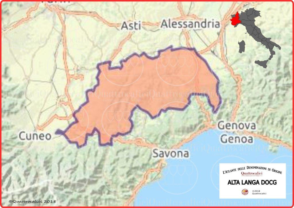 Cartina Alta Langa DOCG