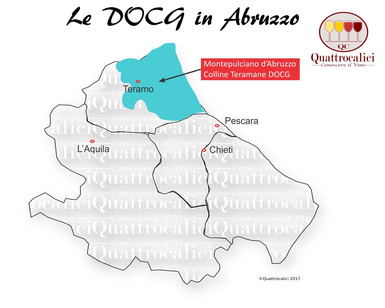 Mappa Denominzioni DOCG Abruzzo