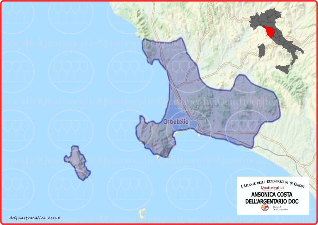 Cartina Ansonica Costa dell'Argentario DOC