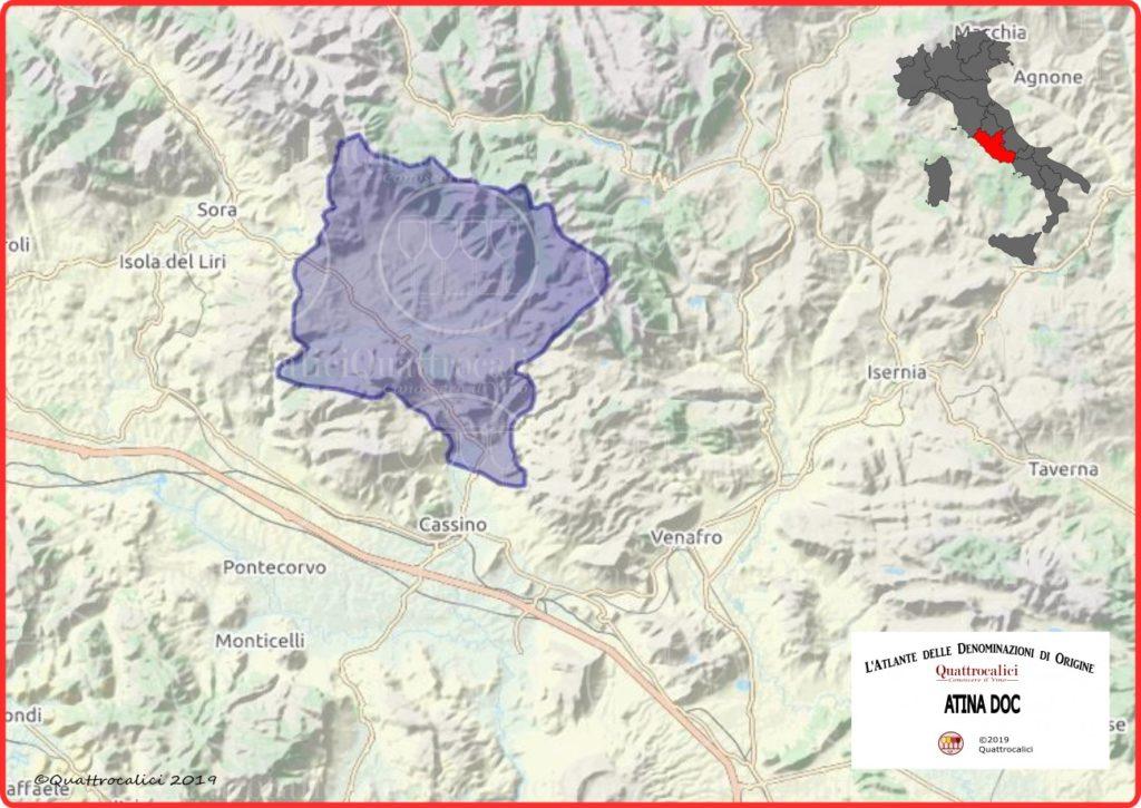 Atina DOC Cartina Denominazione