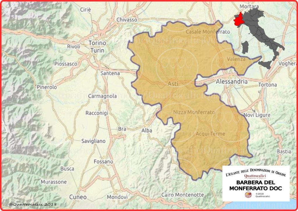 cartina barbera monferrato doc