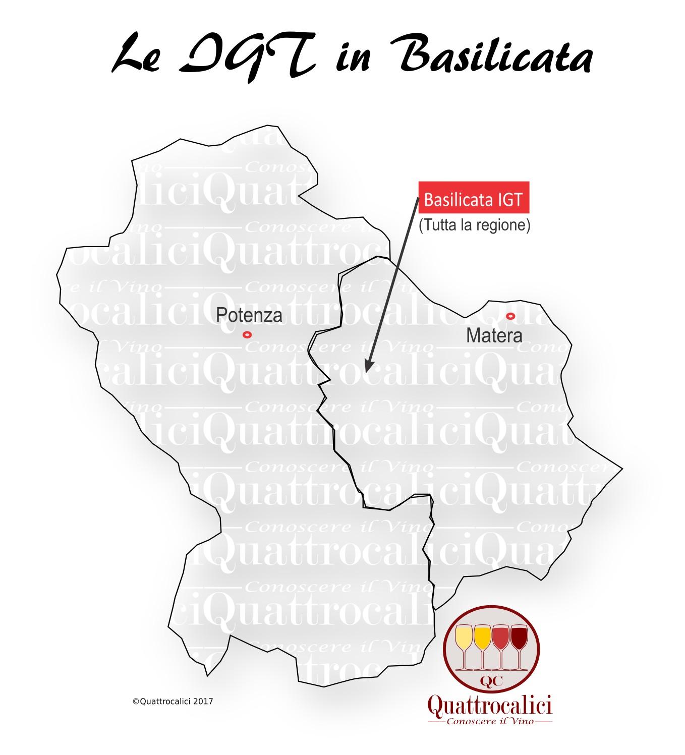 Mappa Denominzioni IGT Basilicata