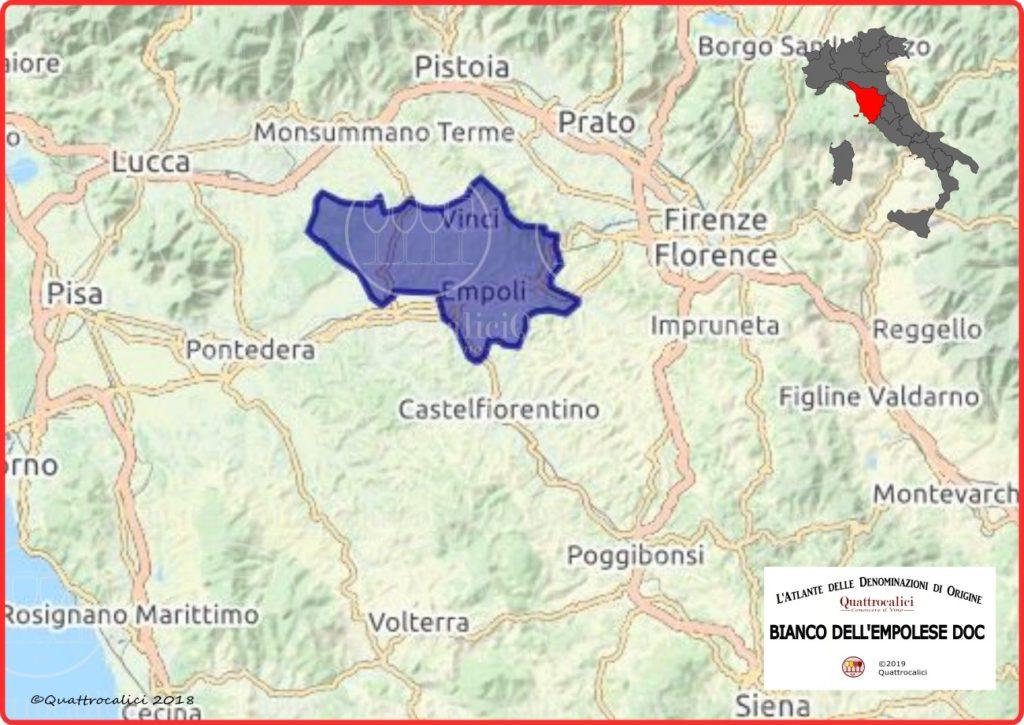 Cartina Bianco dell'Empolese DOC