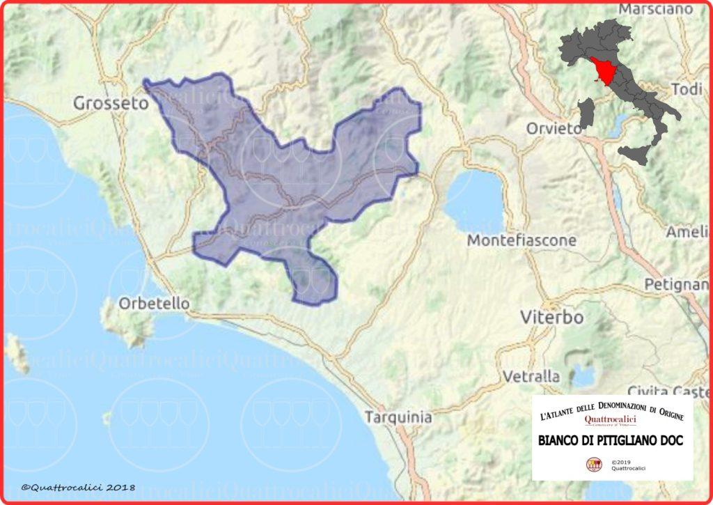 Cartina Bianco di Pitigliano DOC