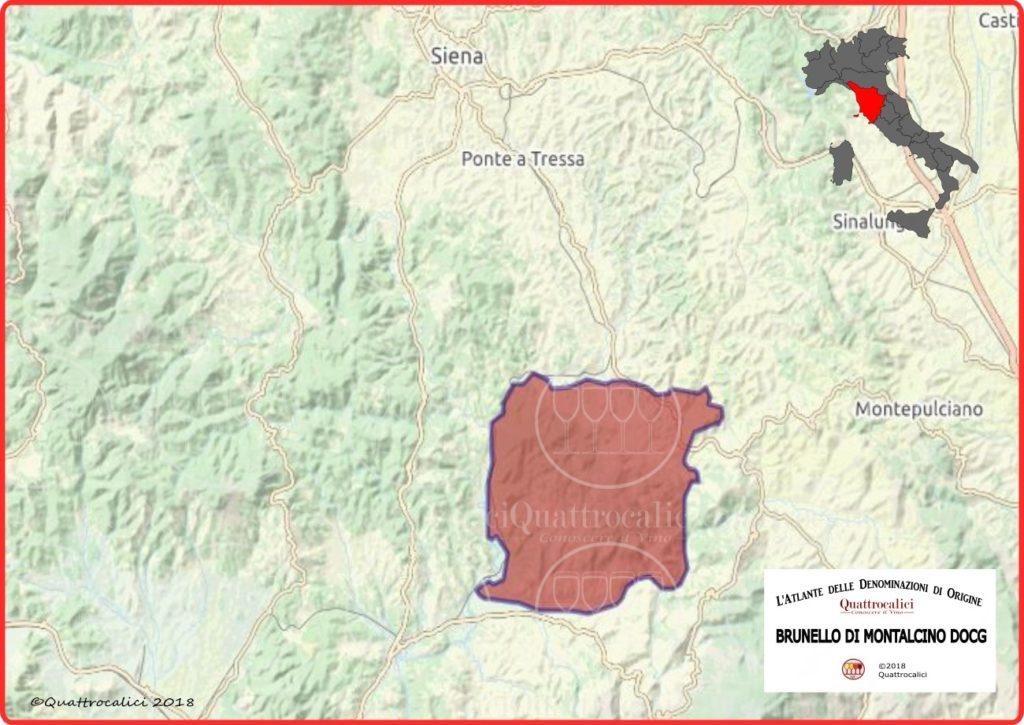 Brunello di Montalcino cartina denominazione