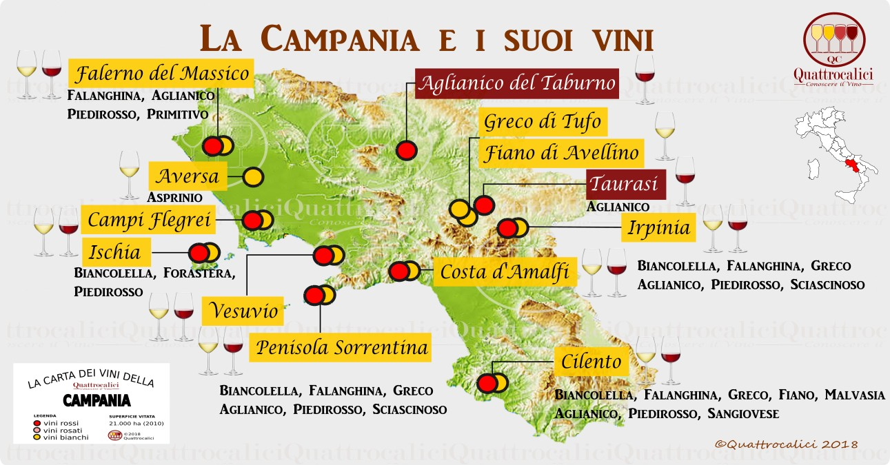 campania wine map