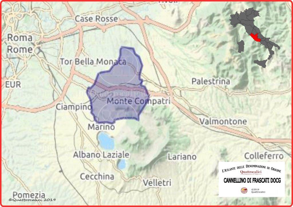 Cannellino di Frascati DOCG Cartina