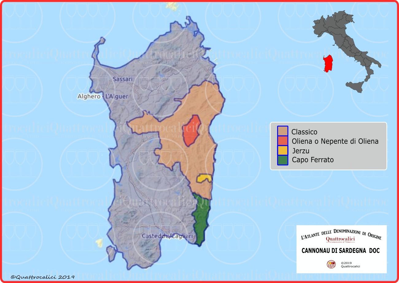 Cartina Sardegna Jerzu.Cannonau Di Sardegna Doc Sottozona Jerzu Quattrocalici Tutte Le Sottozona Doc Della Regione Sardegna