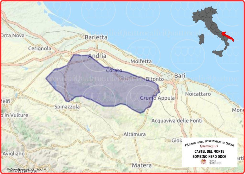 Castel del Monte Bombino Nero DOCG cartina