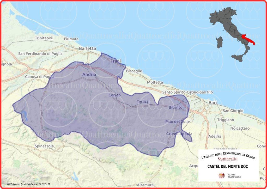 Castel del Monte DOC cartina
