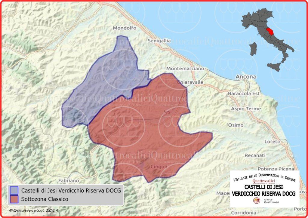Cartina Castelli di Jesi Verdicchio Riserva DOCG