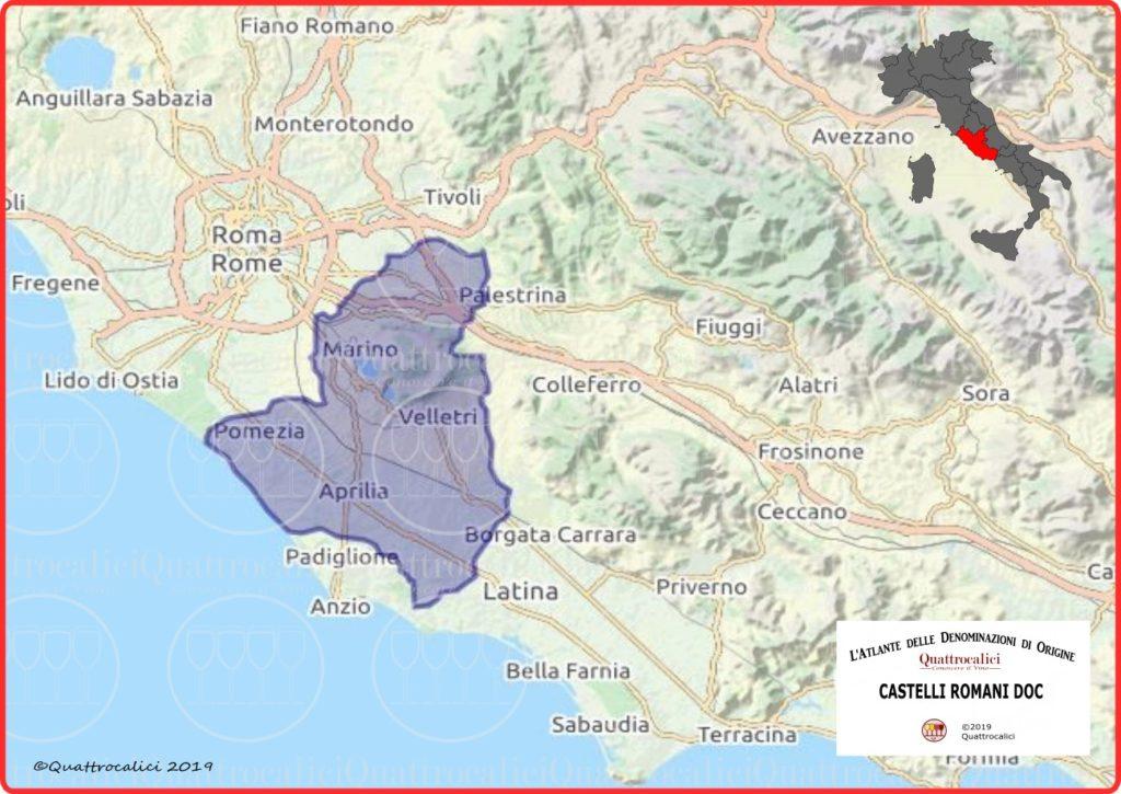Castelli Romani DOC Cartina Denominazione