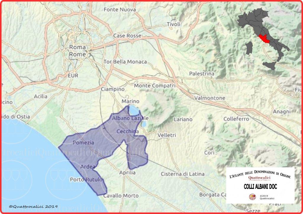 Colli Albani DOC Cartina Denominazione