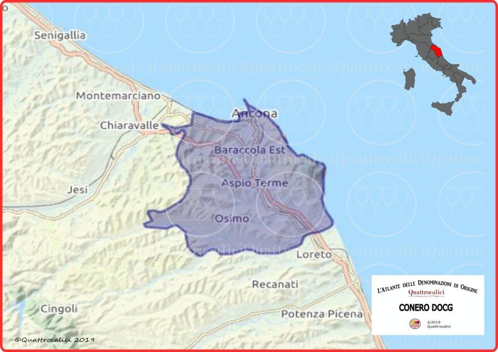 Cartina Conero DOCG