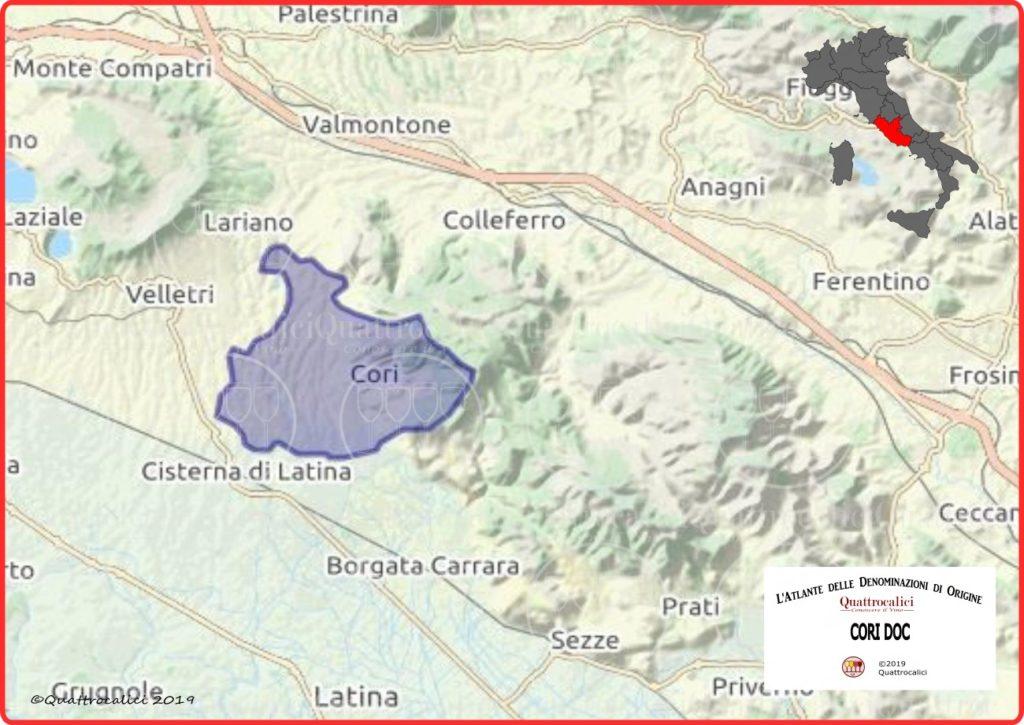 Cori DOC Cartina Denominazione