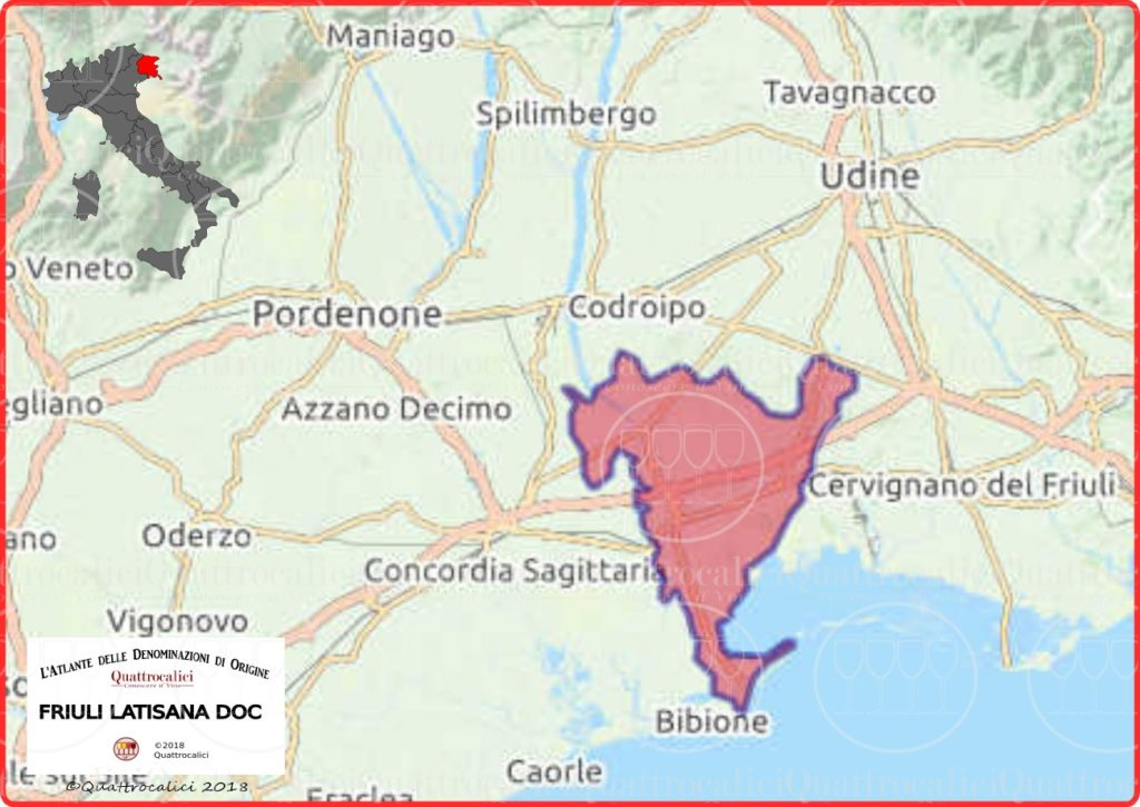 friuli-latisana-doc-cartina