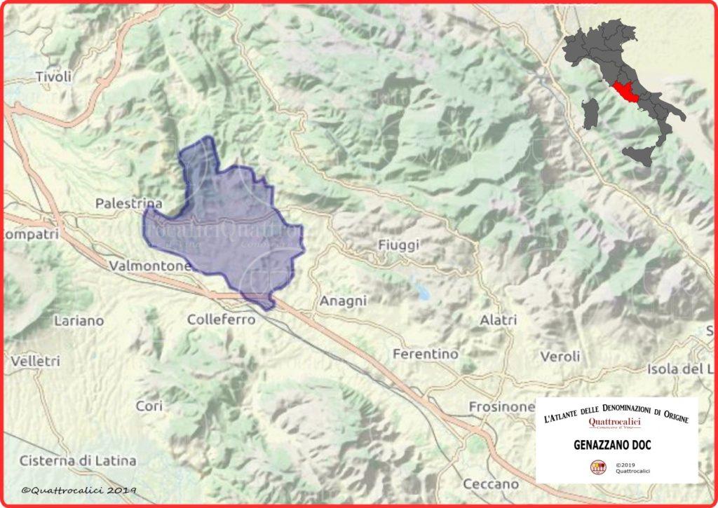 Genazzano DOC Cartina Denominazione