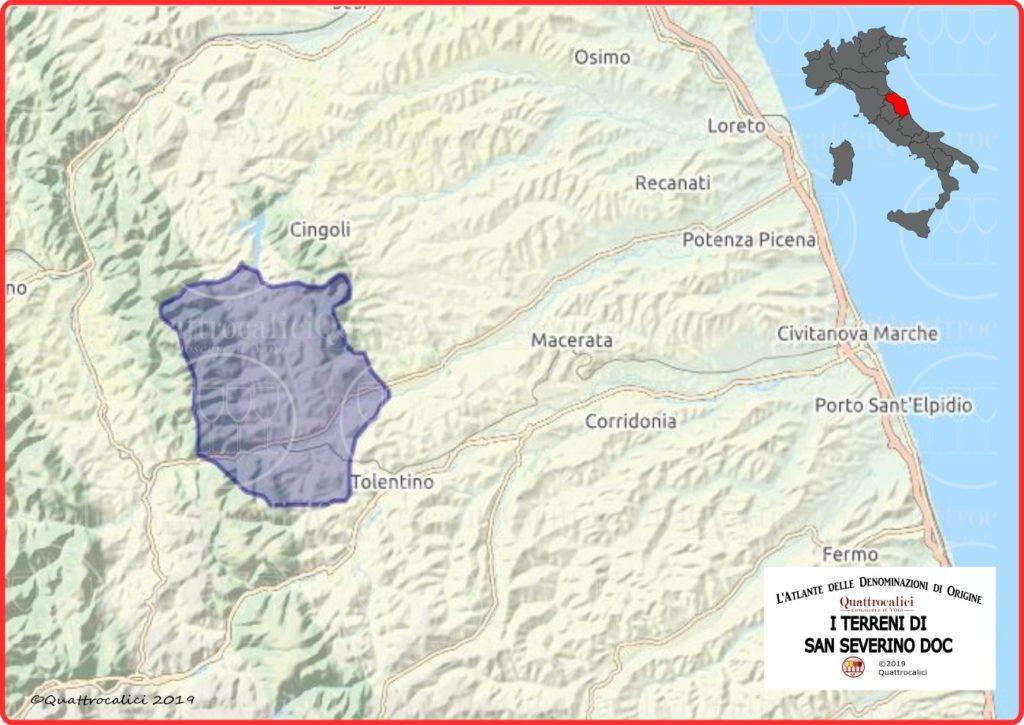 Cartina I Terreni di San Severino DOC
