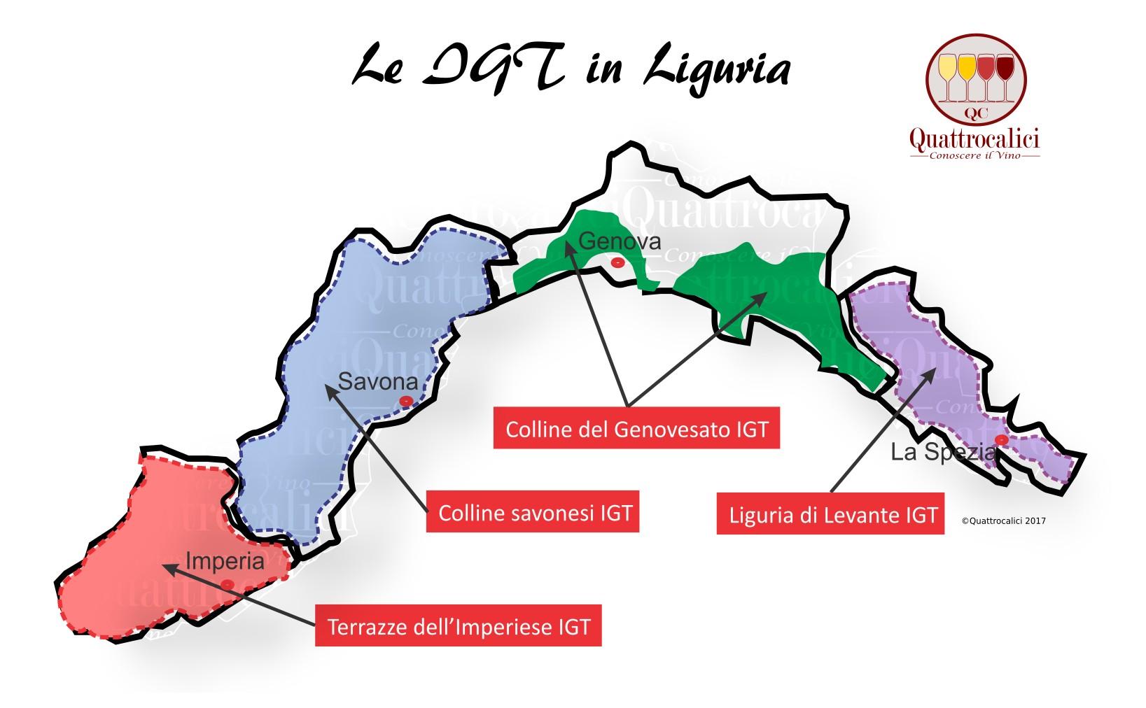 Mappa Denominzioni IGT Liguria