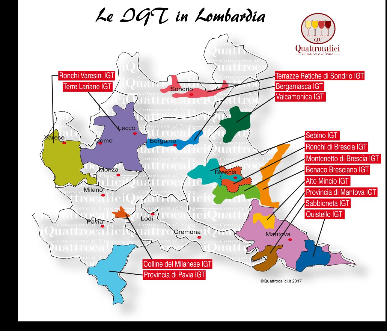 Mappa Denominzioni IGT Lombardia