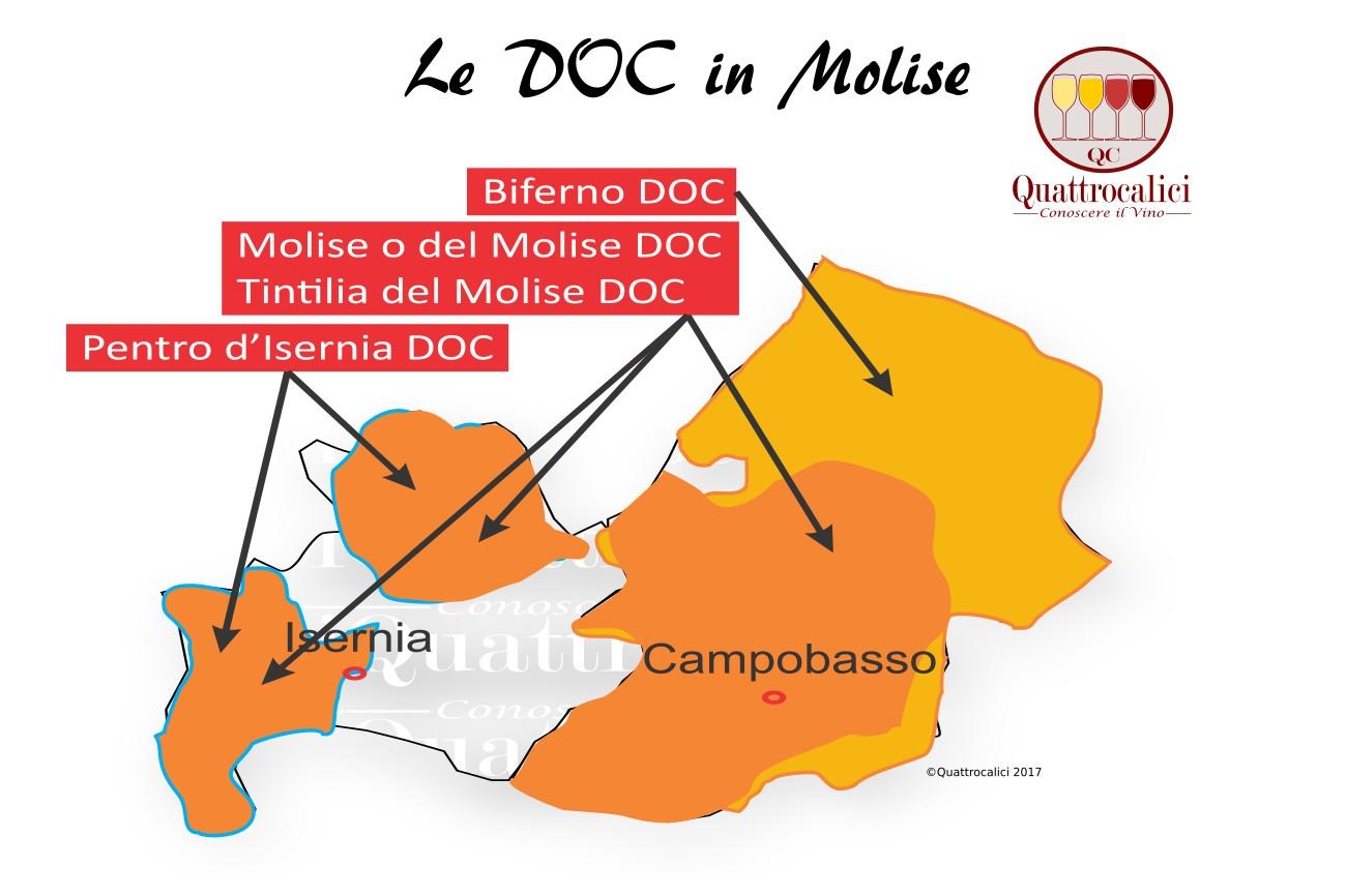 Mappa Denominzioni DOC Molise