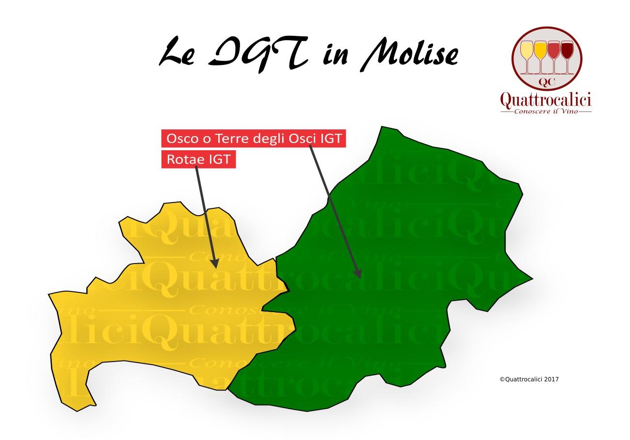 Mappa Denominzioni IGT Molise