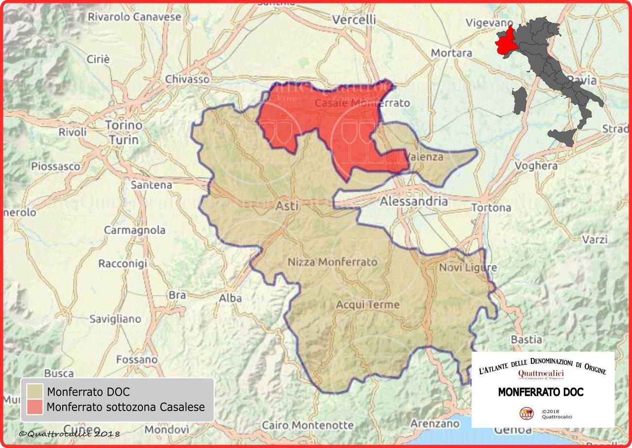 Cartina Geografica Regione Piemonte