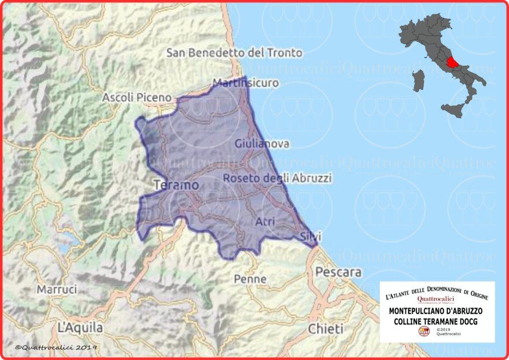 Montepulciano d'Abruzzo Colline Teramane DOCG cartina