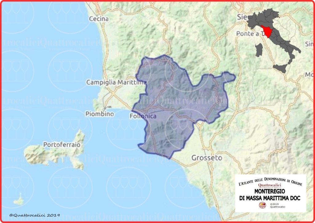 Cartina Monteregio di Massa Marittima DOC