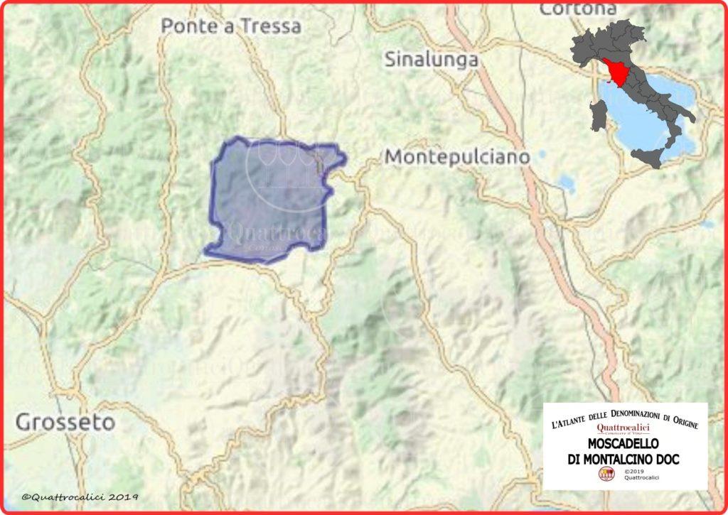 Cartina Moscadello di Montalcino DOC
