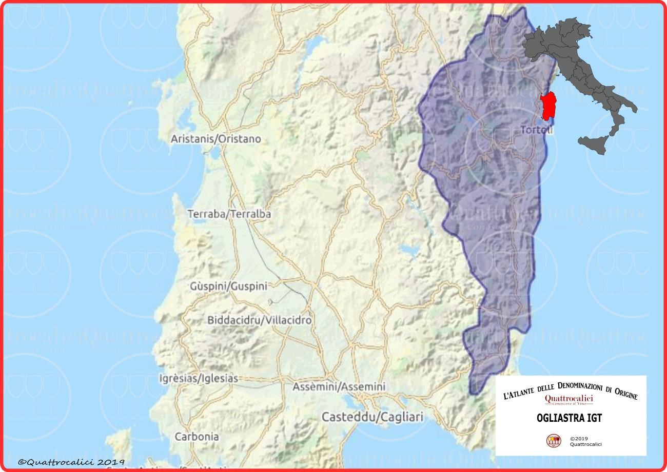 Ogliastra Cartina Geografica.Ogliastra Igt Quattrocalici Tutte Le Igt Della Regione Sardegna