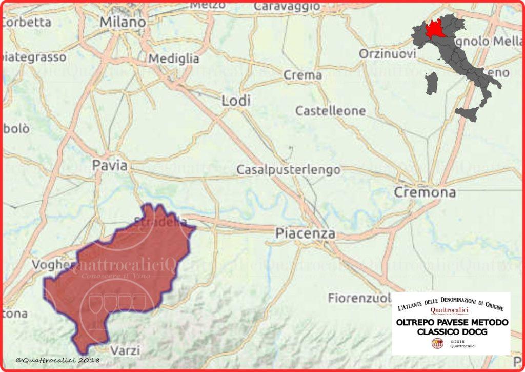 Oltrepò Pavese metodo classico cartina