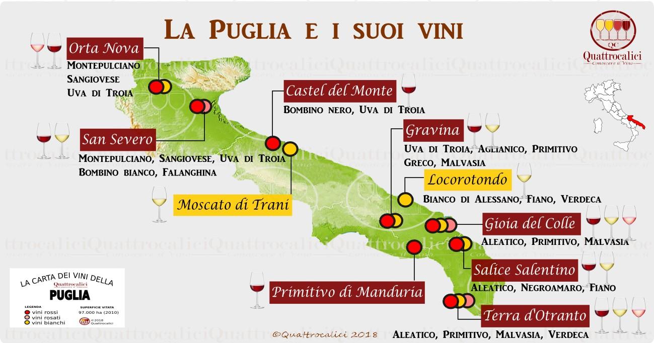 puglia wine map