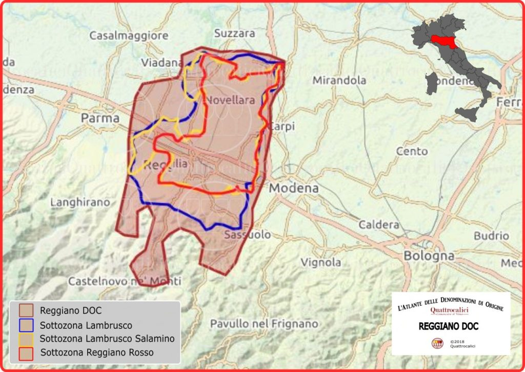 Reggiano DOC cartina