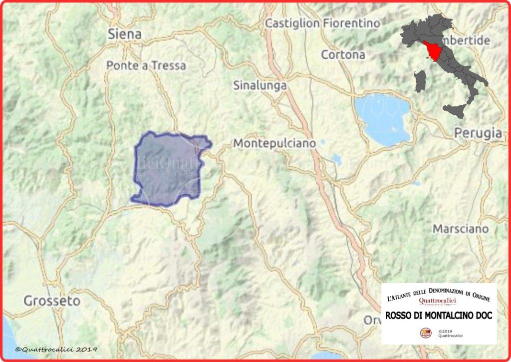 Cartina Rosso di Montalcino DOC