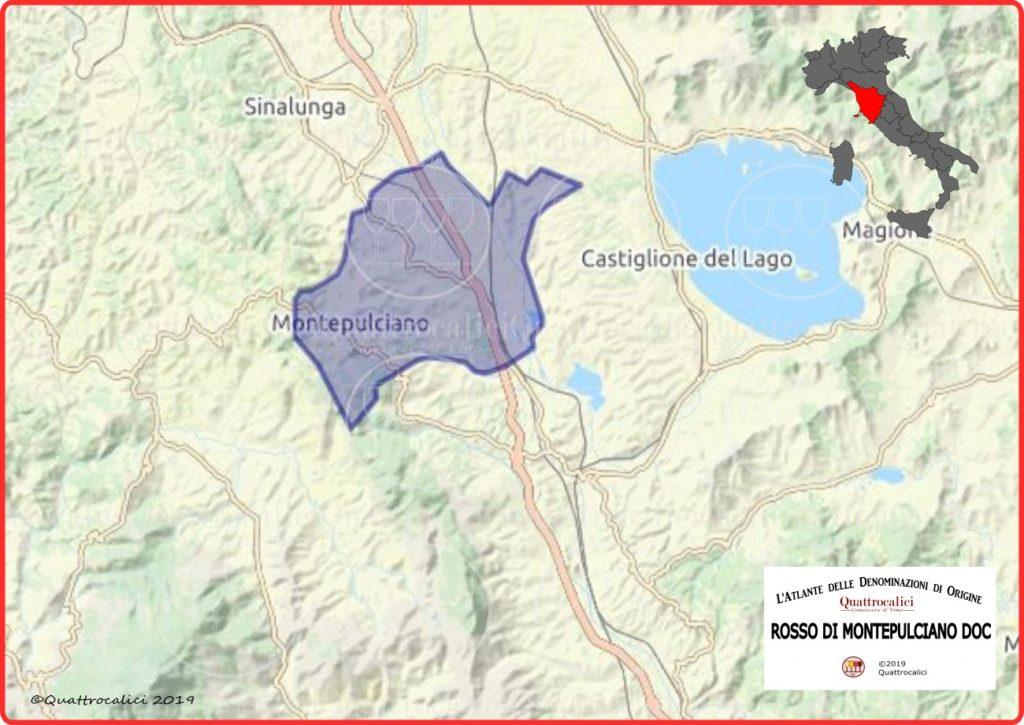 Cartina Rosso di Montepulciano DOC