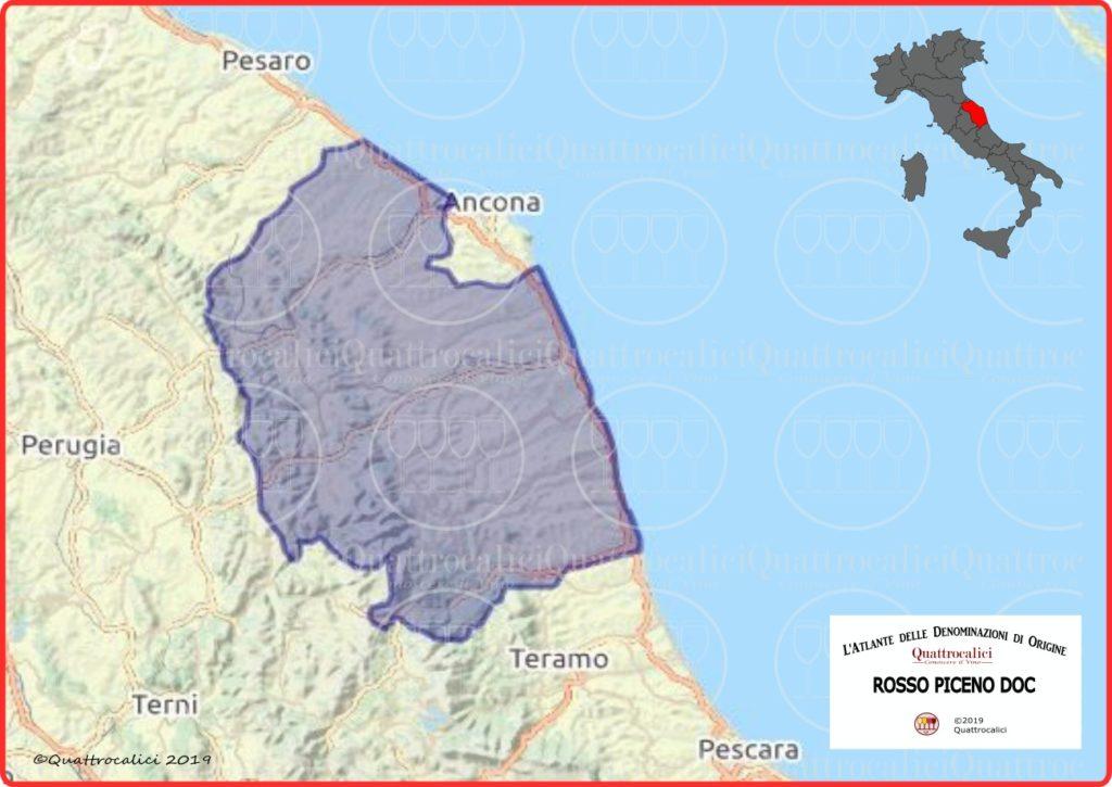 Cartina Rosso Piceno DOC