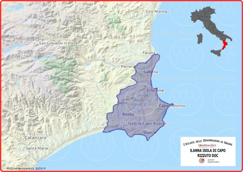 S.Anna Isola di Capo Rizzuto DOC cartina