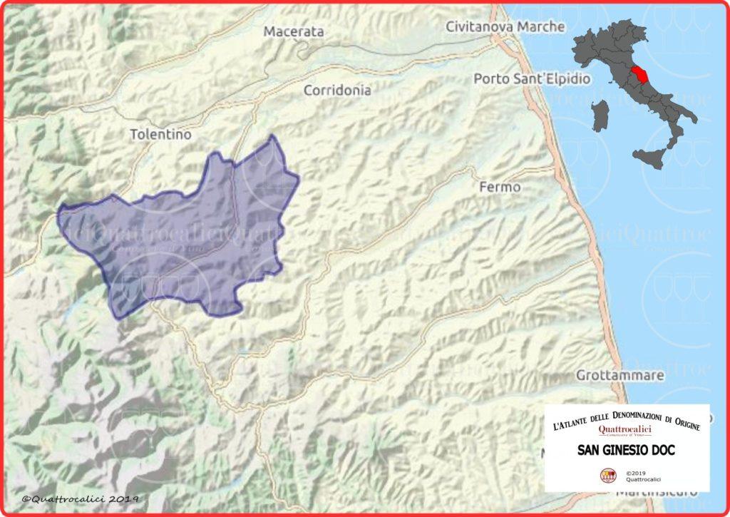 Cartina San Ginesio DOC