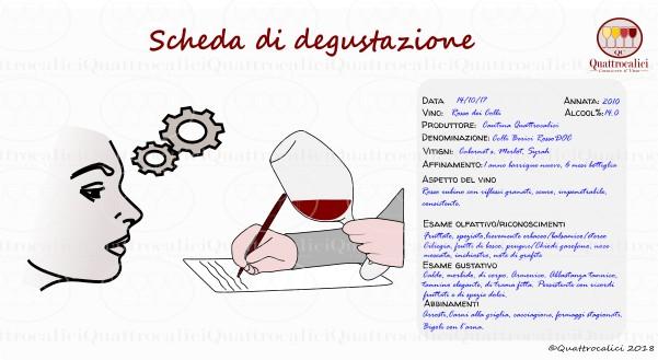 scheda degustazione vino
