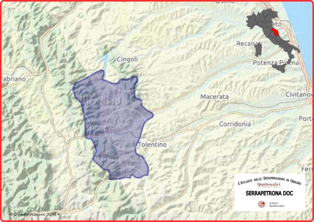 Cartina Serrapetrona DOC