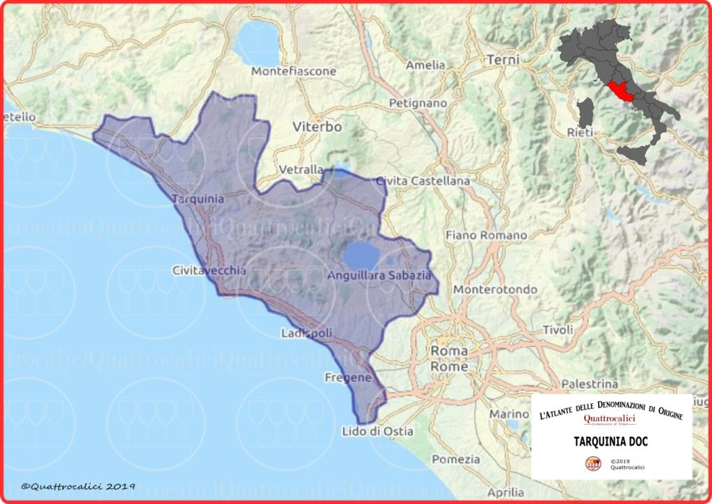 Tarquinia DOC Cartina Denominazione