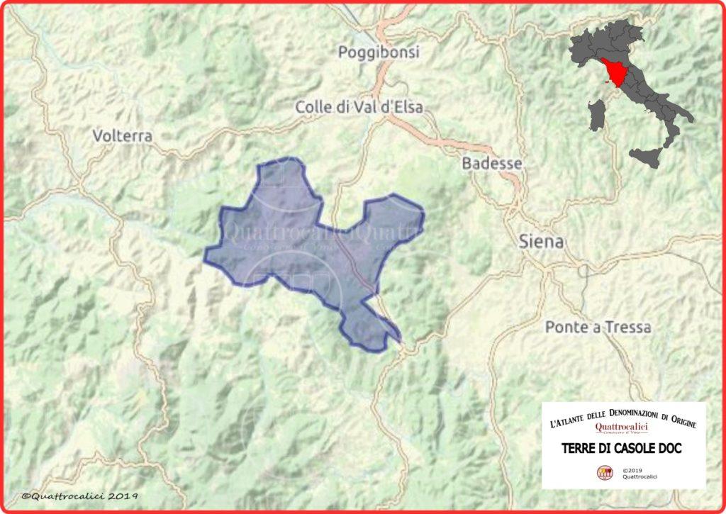 Cartina Terre di Casole DOC