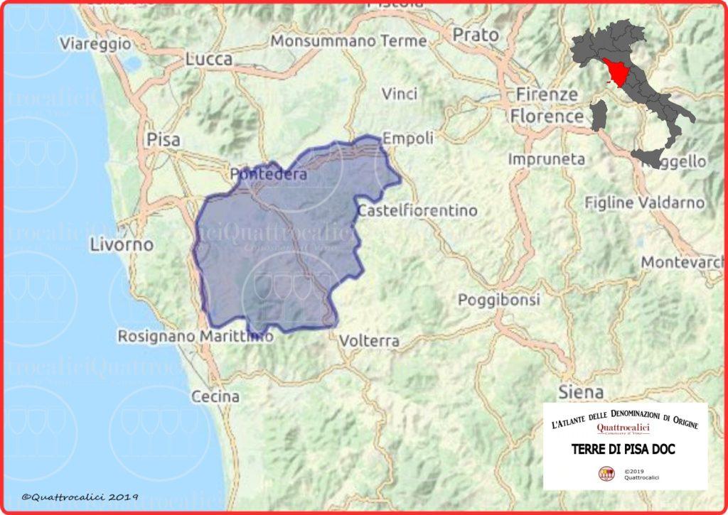 Cartina Terre di Pisa DOC
