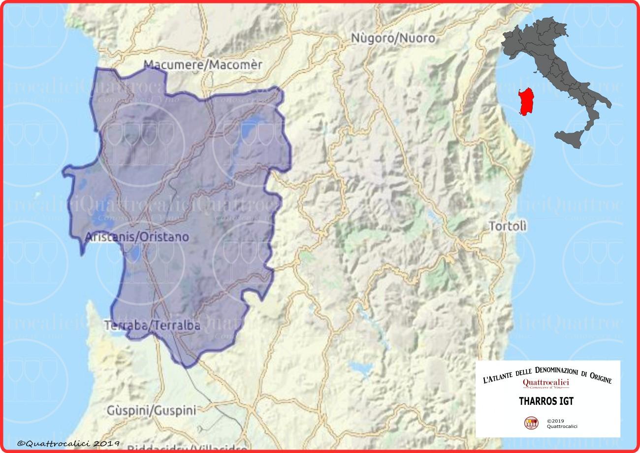 Cartina Sardegna Tharros.Tharros Igt Quattrocalici Tutte Le Igt Della Regione Sardegna