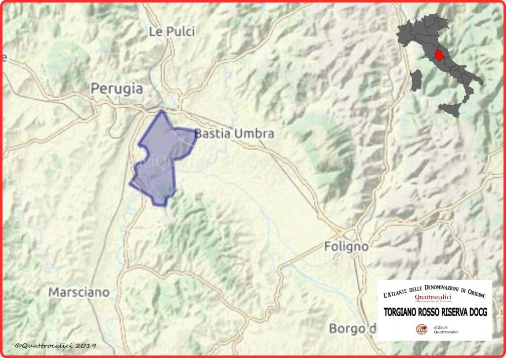 cartina torgiano rosso riserva doc