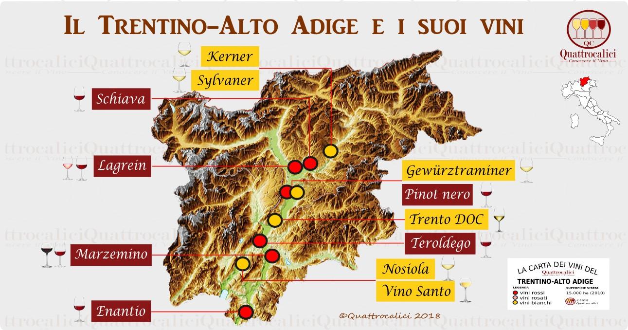 trentino-alto-adige mappa vini