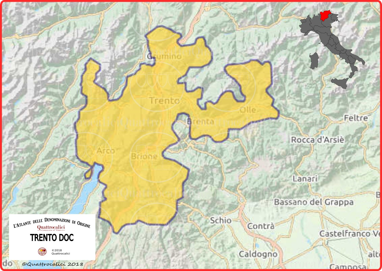Cartina Italia Trentino
