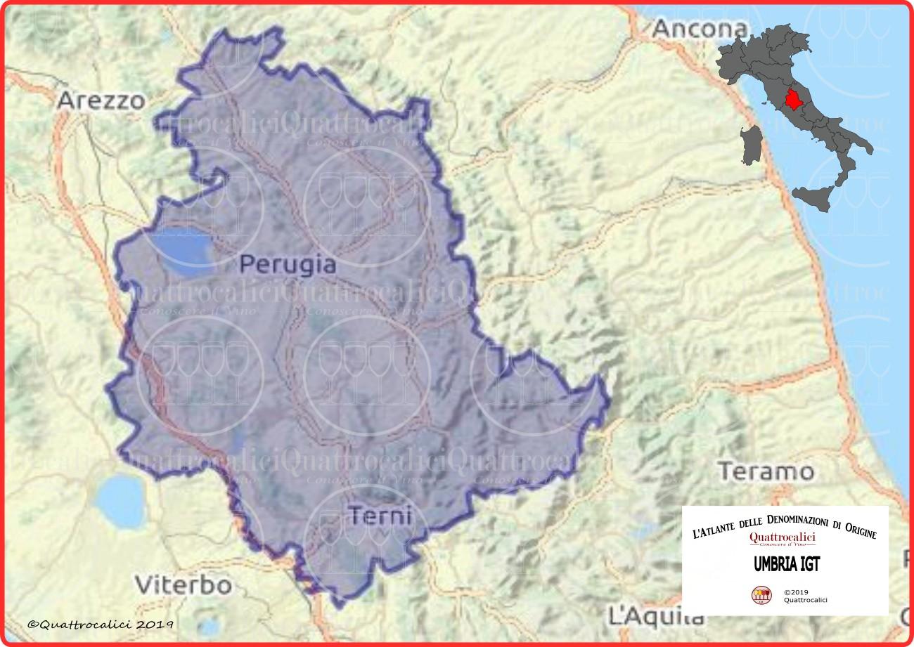 Cartina Umbria Geografica.Umbria Igt Quattrocalici Tutte Le Igt Della Regione Umbria