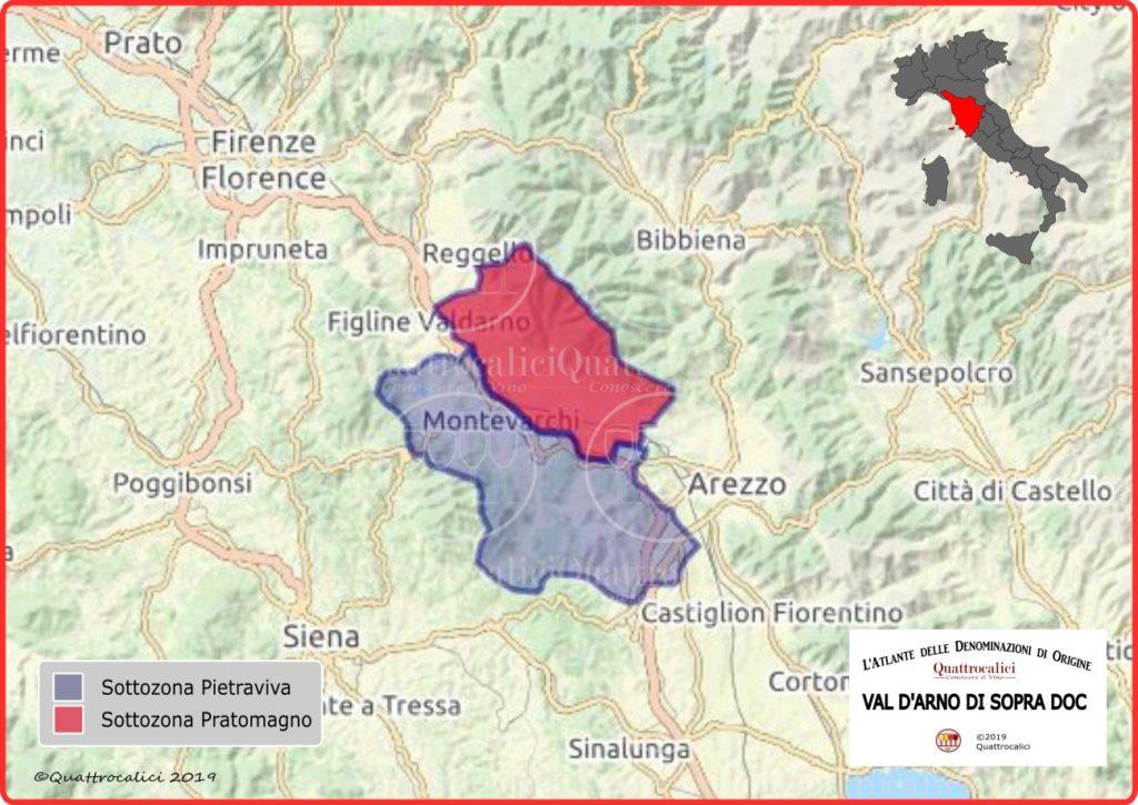 Cartina Valdarno di Sopra DOC